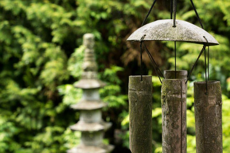Fontaine et carillon Feng Shui